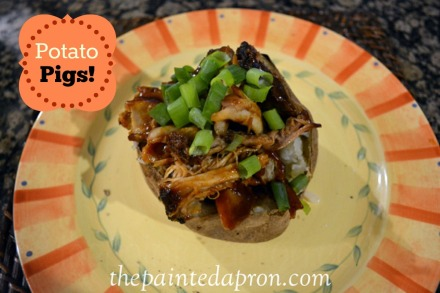 baked potato with bbq thepaintedapron.com