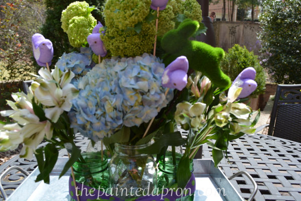 ball jar bouquet thepaintedapron.com