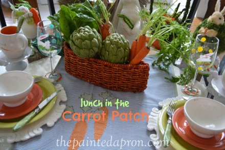 carrot patch table thepaintedapron.com