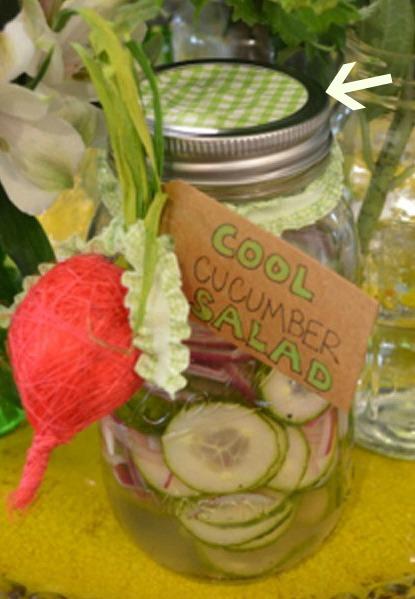 cucumber salad jar thepaintedapron.com