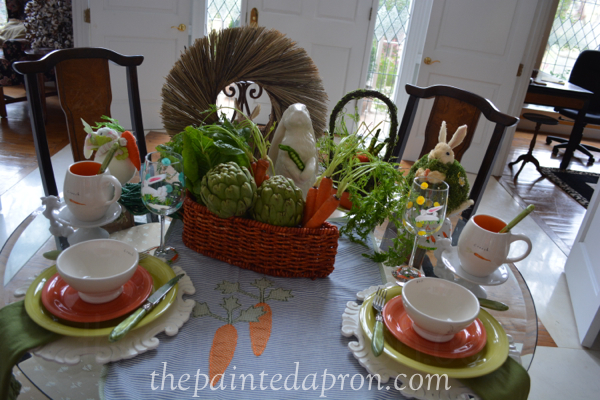 Easter table thepaintedapron.com