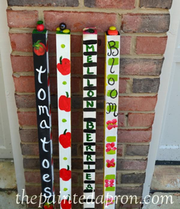 garden poles thepaintedapron.com