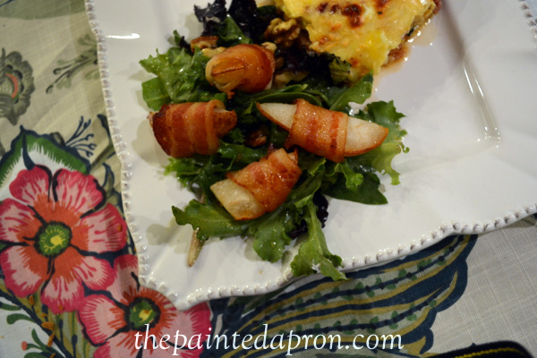 maple bacon roasted pear salad 2 thepaintedapron.com