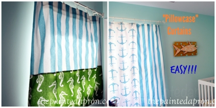 pillowcase curtains 1 thepaintedapron.com