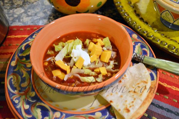 taco soup 5 thepaintedapron.com