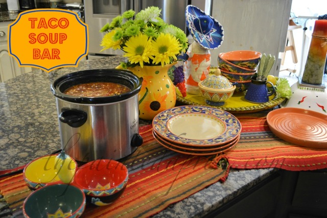taco soup bar 3 thepaintedapron.com