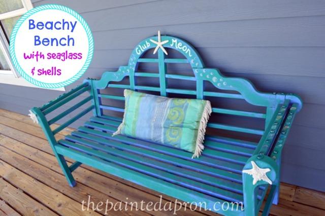 beach bench 3 thepaintedapron.com