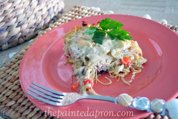 chicken casserole thepaintedapron.com