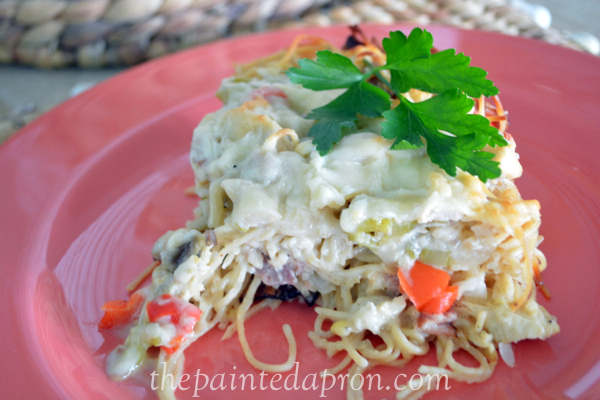 chicken tetrazzini thpaintedapron.com
