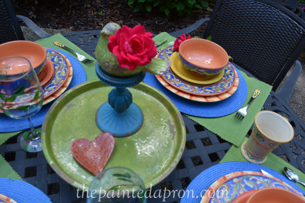 garden rose table thepaintedapron.com