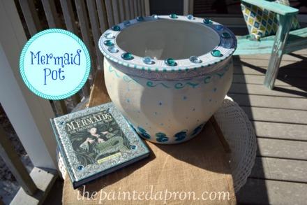 mermaid pot thepaintedapron.com