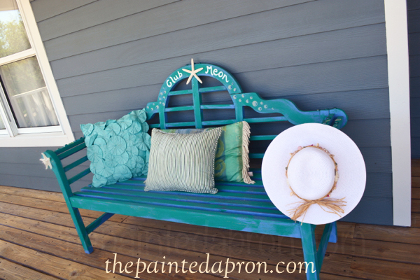 painted bench thepaintedapron.com