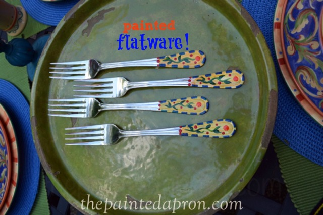 painted forks 2 thepaintedapron.com