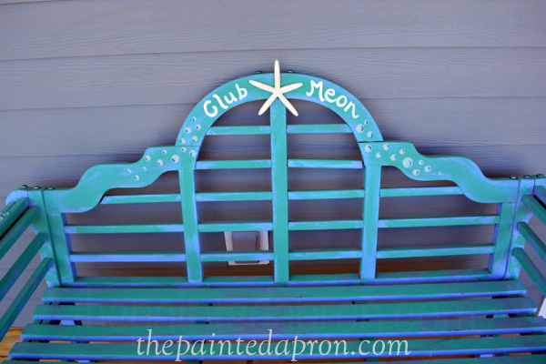 personalized bench thepaintedapron.com