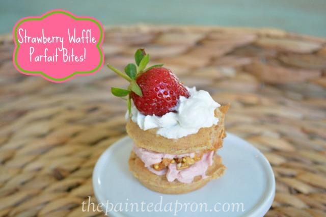 strawberry waffle parfait thepaintedapron.com