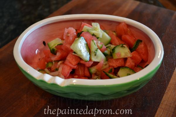 watermelon salsa thepaintedapron.com