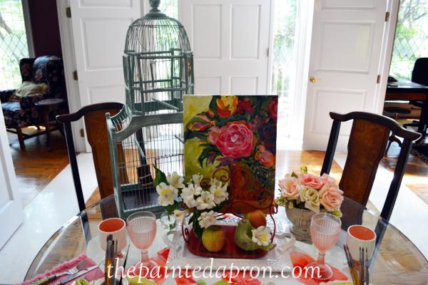 art in the garden thepaintedapron.com