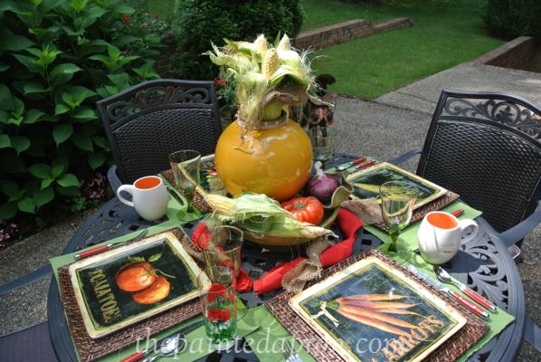 garden table thepaintedapron.com