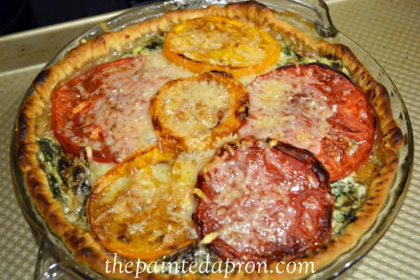 Italizn tomato pie thepaintedapron.com