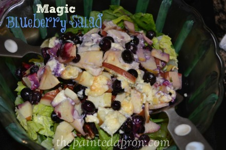 magic blueberry salad thepaintedapron.com