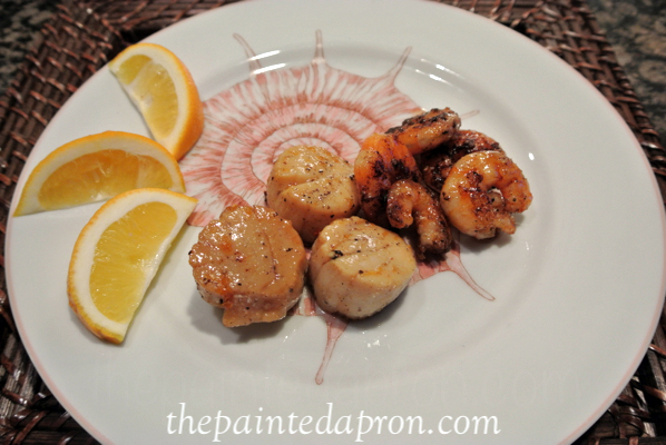 orange glazed seafood thepaintedapron.com