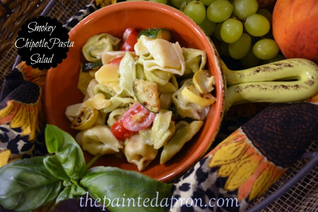 smokey chipotle pasta salad 4 thepaintedapron.com