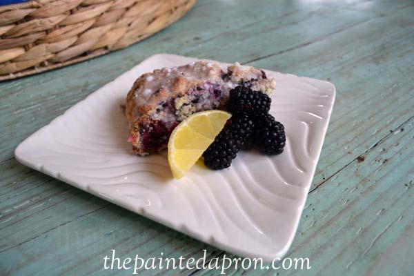 blackberry lemon scones 1 thepaintedapron.com
