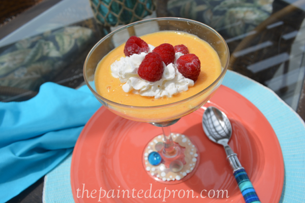 creamy peach soup thepaintedapron.com