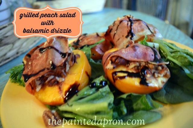 peach, pecan and prosciutto salad thepaintedapron.com