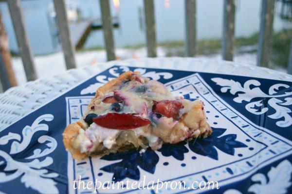 plum tart with pecan crust thepaintedapron.com
