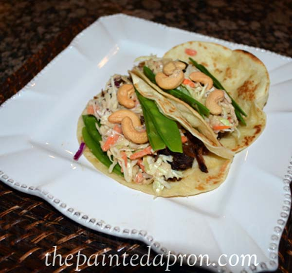 short rib slaw topped tacos thepaintedapron.com