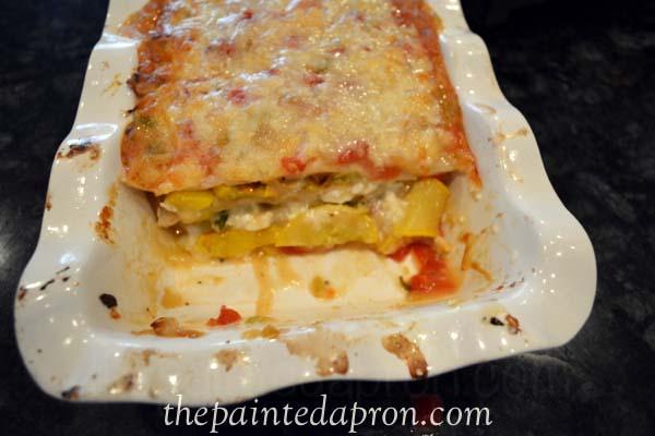 spicy rainbow lasagna thepaintedapron.com