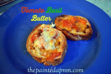 tomato basil butter thepaintedapron.com