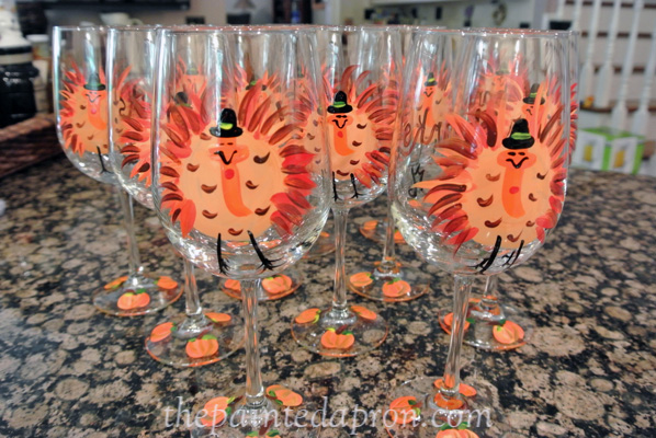 turkey glasses JMdesigns.com