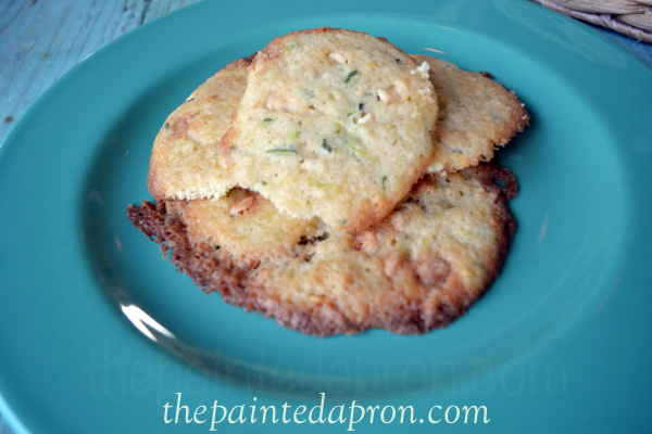white chocolate chip zucchini cookies thepaintedapron.com