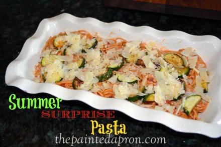 zucchini pesto pasta bake thepaintedapron.com