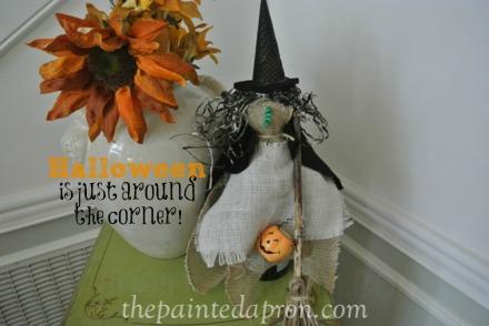 burlap witch