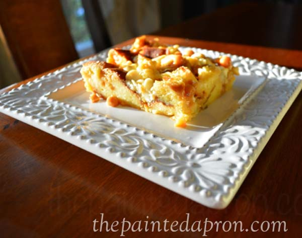 Challah bread pudding thepaintedapron.com