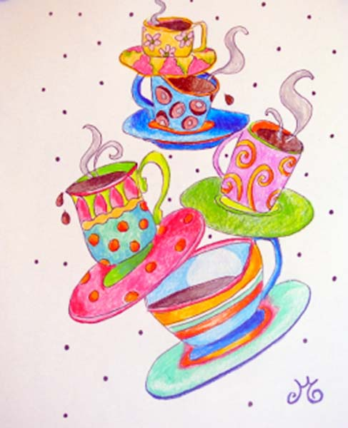 coffee cups thepaintedapron.com