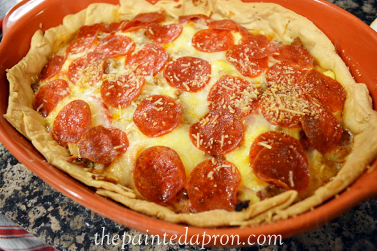 garden tomato pizza pie thepaintedapron.com