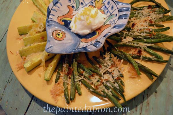 green bean and zucchini fries thepaintedapron.co,