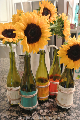 painted wine bottles thepaintedapron.com