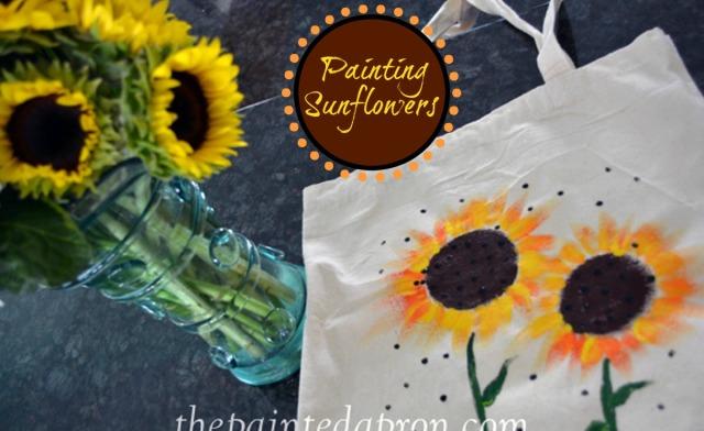 painting sunflowers thepaintedapron.com