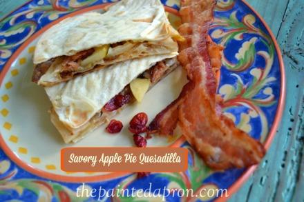 savory apple quesadilla thepaintedapron.com