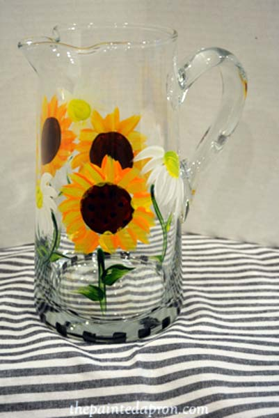 sunflower pitcher jmdesigns.com