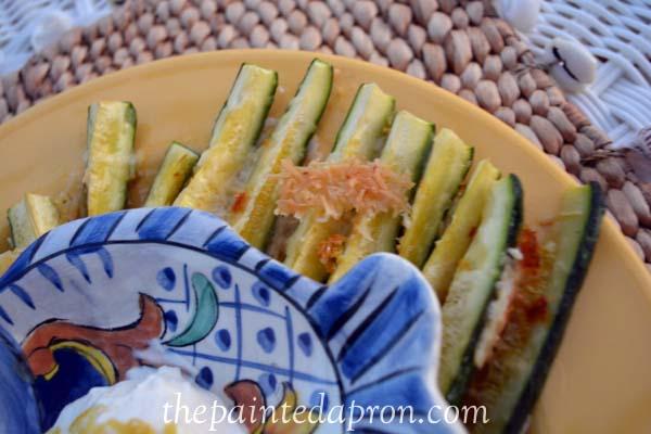 zucchini parmesan fries thepaintedapron.com