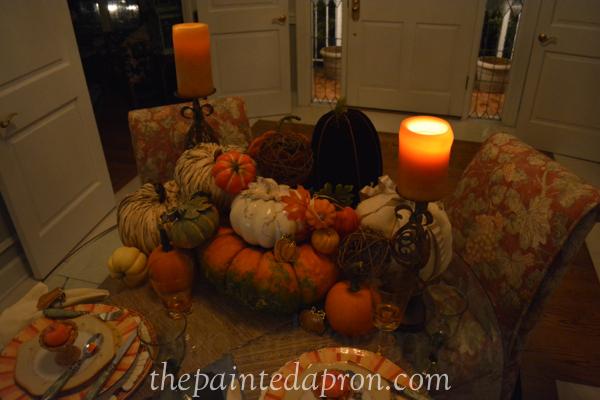candlelight pumpkins thepaintedapron.com
