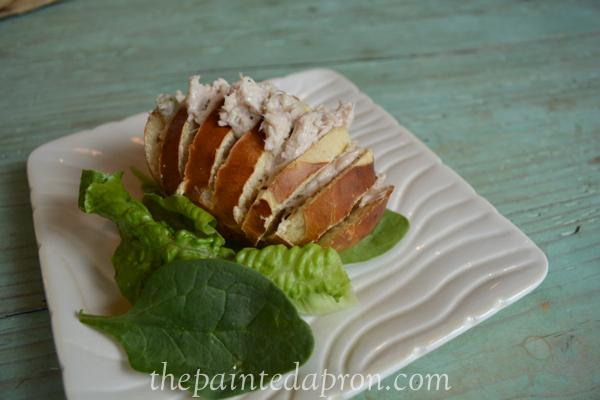 chicken salad hassleback roll thepaintedapron.com