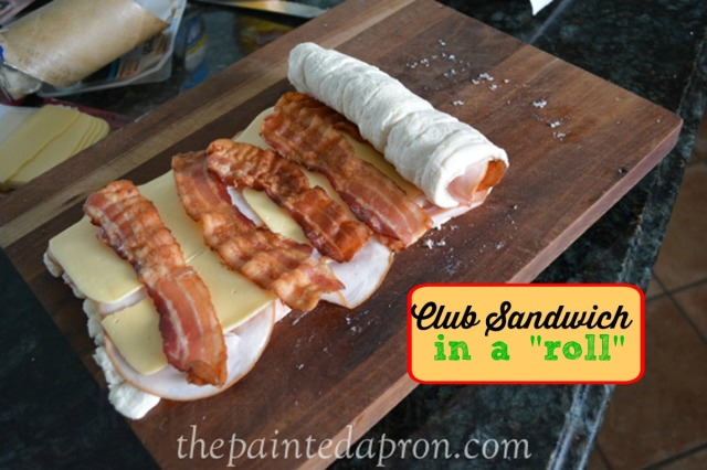 club sandwich in a roll thepaintedapron.com