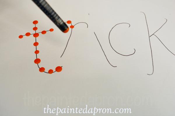 dot paint letters thepaintedapronccom